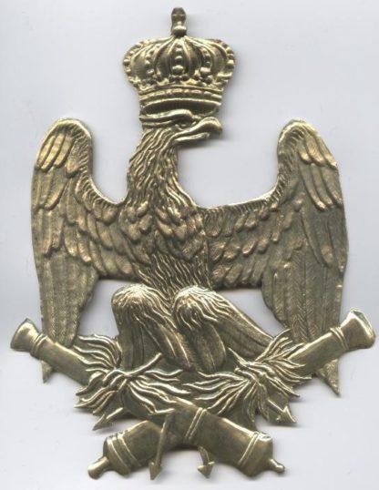 Налобник на кивер французской гвардейской артиллерии