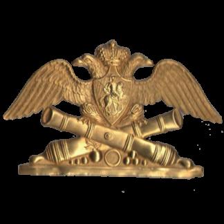 plaque sur la chaussure de l'artillerie des gardes russes