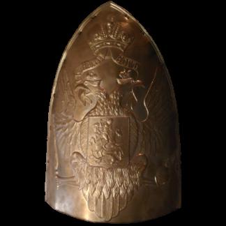 Plaque de la mitre russe du regiment Pavlovski M1802