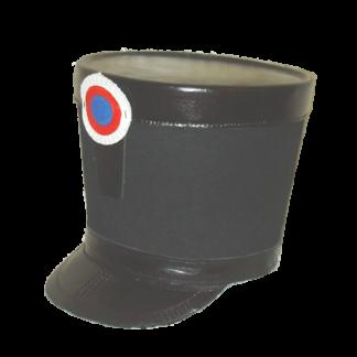 Fut de shako en feutre noir avec une calotte et une visiere