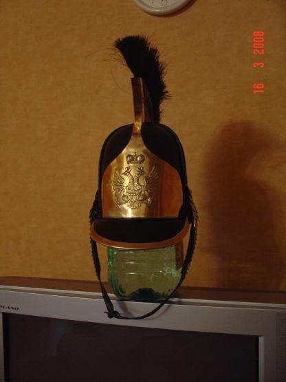 Каска кожаная русской тяжелой кавалерии образца 1808 года